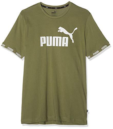 Puma Amplified Big Logo Tee T-Shirt-vert (Olivine)-XL