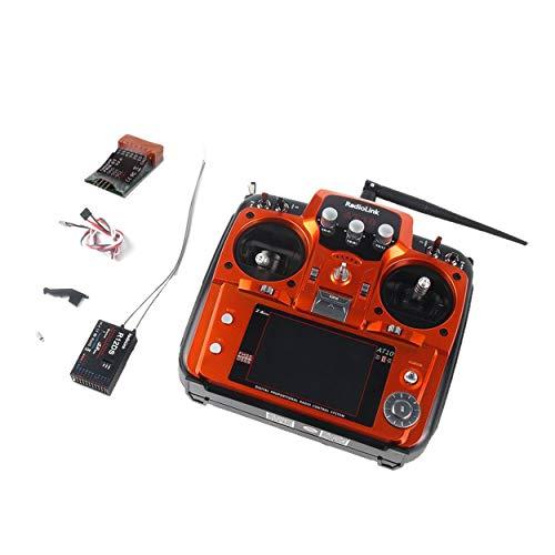 Lorenlli Ajuste el Control Remoto del transmisor Radiolink AT10II 2.4G 12CH con R12DS Receptor RPM-01 Voltaje Módulo de Retorno para RC Drone Quadcopter