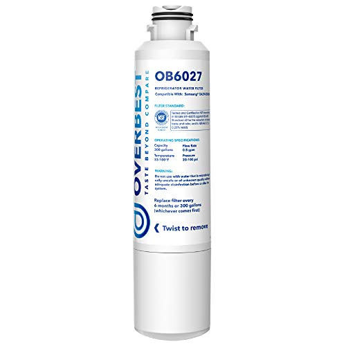 Overbest OB6027 DA29-00020B Water Filter, Replacement for Samsung DA29-00020B, DA29-00020B-1, Haf-Cin/Exp, 46-9101, RF4267HARS