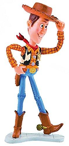 Bullyland 12761 - Spielfigur, Walt Disney Toy Story 3, Woody, ca. 10,5 cm groß, liebevoll handbemalte Figur, PVC-frei, tolles Geschenk für Jungen und Mädchen zum fantasievollen Spielen