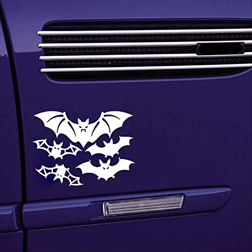 WYLYSD Car sticker 16.9cm*13.7cm Lovely A Group Of Flapping Wings Bats Family Exquisitely Lifelike Vinyl Car Sticker Delicate Decal C18-0855 Silver