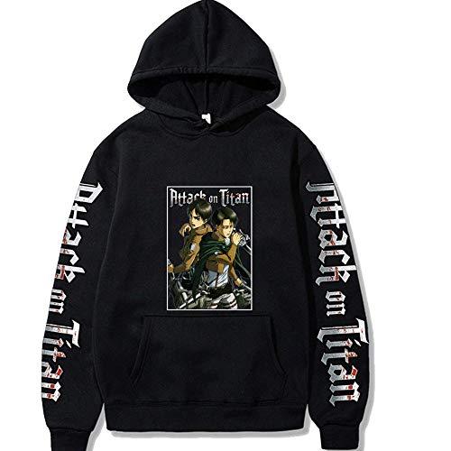 Attack on Titan Jacket Shingeki Kyojin Disfraz de Cosplay Hombres Mujeres Sudadera con Capucha Estampada 2D Sudadera con Capucha de Manga Larga Sudaderas con Capucha