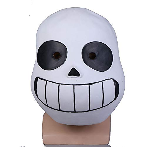 Molagogo Deluxe Latex Game Full Head Child Mask Cosplay Costume Helmet Party Fancy Ball Halloween Christmas Props (for Child, Black Eye)