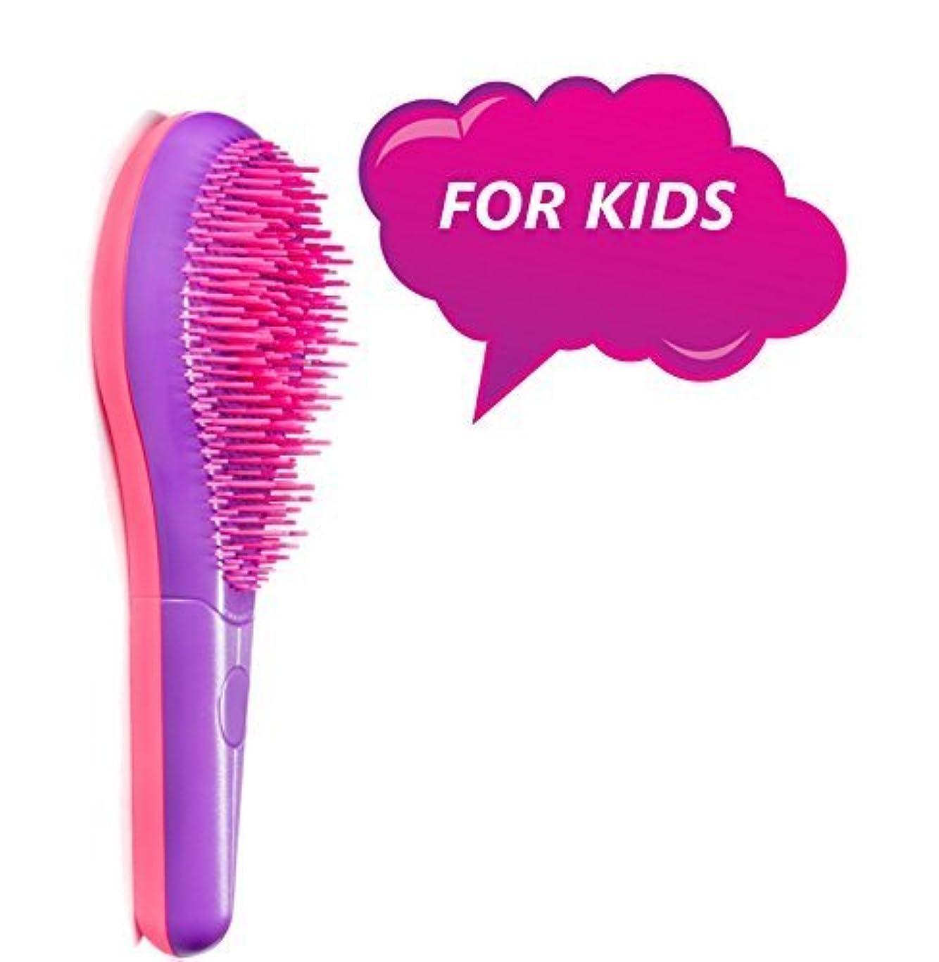 Michel Mercier Kids Detangling Brush Purple - For Fine Hair