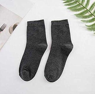 Calcetín de algodón para Mujer Poliéster Algodón 2 Pares Calcetines de Mujer Liso Negro Blanco Hombres Tobillo para Mujer Calcetines Casuales Calcetines Cortos Invisibles