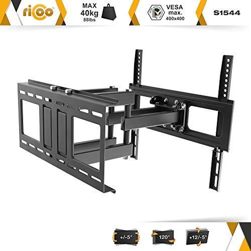 RICOO LCD TV Wandhalter Schwenkbar Neigbar S1544 Fernseher Wandhalterung Halterung Fernsehhalterung LED Flachbildschirm ca.76-165cm / 30′- 32′ – 42′ – 47′- 55′ – 65′ Zoll - 2