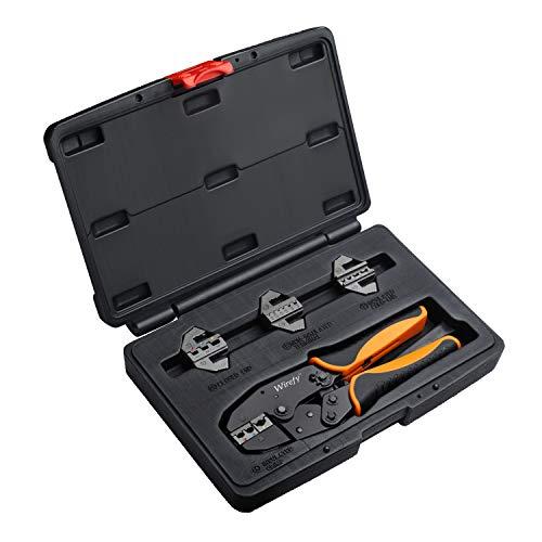 Wirefy - Herramienta de crimpado para conectores eléctricos - crimpadora de cables de trinquete - alicates de crimpado - crimpadora de terminales de trinquete - herramienta de crimpado de alambre