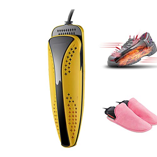HRRH Secador de Botas y Zapatos, Calentador de Zapatos escalable de 20 vatios Secador de Zapatos eléctrico PTC Dispositivo de máquina Protector de pies para esterilizador de olores de Botas,Yellow