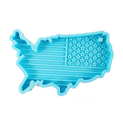 Formen & Gießen, USA-Flagge, Kunstharzform, amerikanische Flagge, Schlüsselanhänger, Freiheitsstatue, Silikonformen