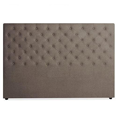 INTENSEDECO Tête de lit capitonnée Constance 180cm Tissu Taupe