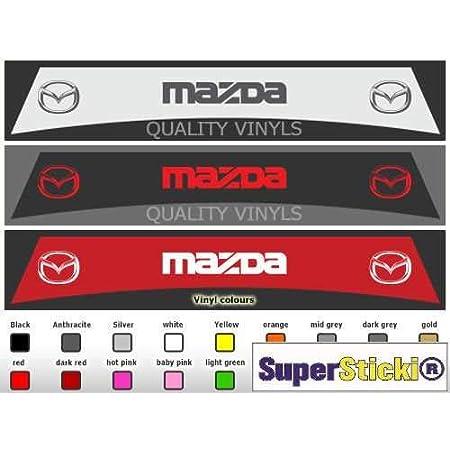 Supersticki Mazda Blendstreifen Aufkleber Ca 130 X 30 Cm Aufkleber Sticker Decal Aus Hochleistungsfolie Aufkleber Autoaufkleber Tuningaufkleber Racingaufkleber Rennaufkleber H Auto