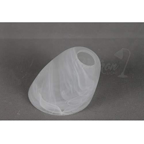 Lampenschirm Tulpe- E14 abgeschrägtes Opalglas Alabaster weiß