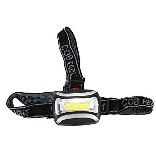 Kaxofang 3W Lampara de Cabeza de Brillo de 600 lumenes destacados, luz Baja, Ajuste del Angulo Intermitente Aplicado a Las Actividades al Aire Libre Negro