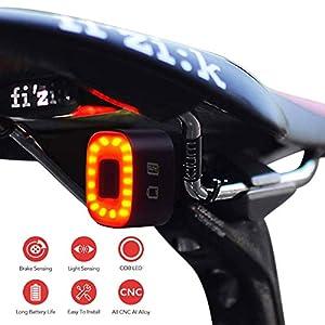 413QnmUZMOL. SS300 One enjoy Luce Posteriore Bici Intelligente Ultra Luminoso, luci per Bicicletta Ricaricabile, accensione/spegnimento Automatico, LED Impermeabile IPX5, 30 Ore + (reggisella, Sella)