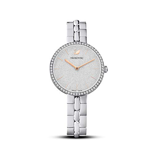 Swarovski Women's Cosmopolitan Watch, White Swarovski Crystal Wristwatch with Stainless Steel Strap