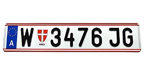 Österreich Custom Personalisierte Aluminium Europäische EU Österreich Kennzeichen Kennzeichen mit Ihrem Text