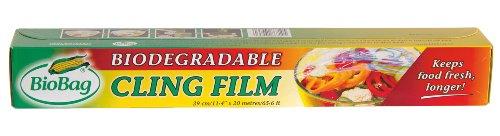BioBag - 3 rollos de papel film de cocina ecológica a base