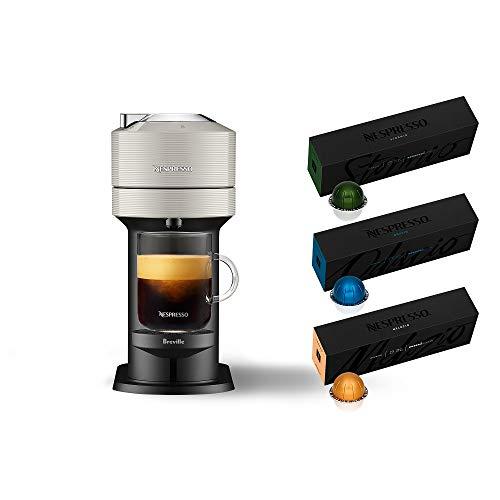 Nespresso Vertuo Next Coffee & Espresso Machine NEW by Breville, Light Grey, Coffee Maker and Espresso Machine + Nespresso Capsules VertuoLine Medium...