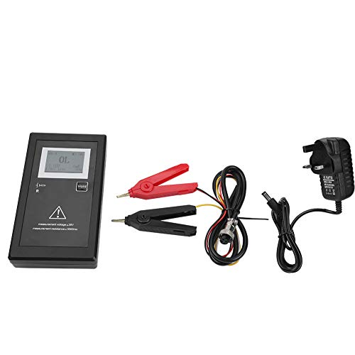 Probador de voltaje de resistencia interna de la batería Probador conveniente de alta precisión Medidor de resistencia de la batería con pinza de prueba(EU Plug)