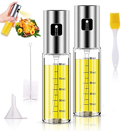 Oil Sprayer,Portable Kitchen Oil Spray Bottle, 2 Pcs Olive...