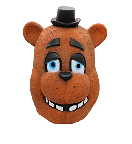 Halloween Masken Fünf Nächte Bei Freddy Kostüm Maske FNAF Foxy Chica Freddy Fazbear Bär Latex Gesicht Party Cosplay Supplies