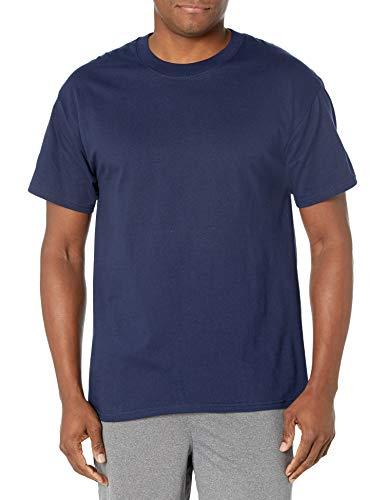 Hanes USA Beefy-T T-Shirt Uni Crew Manches Courtes Homme Navy* Moyen