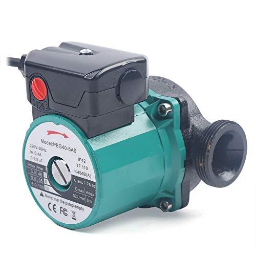 Pompa di circolazione –Pompa di circolazione 25 – 60/120 mm a 3 livelli con guarnizioni a vite – 6 metri di altezza per condizionatori di caldaia e energia solare, mantiene il ciclo caldo