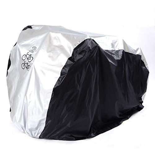 Cubierta de bicicleta, cubierta impermeable para bicicleta con revestimiento de poliuretano resistente al polvo, protección UV se adapta a la mayoría de bicicletas de hasta 29 pulgadas (M)