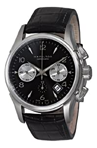 Hamilton Men's H32656833 Jazzmaster Black Chronograph Dial Watch Shop and Reviews and review image