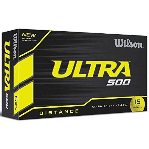Wilson Ultra 500 Golf Ball (15-Pack), Yellow