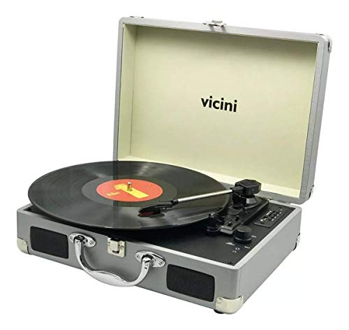 Rádio Vitrola Retro Prata VC285 Vicini