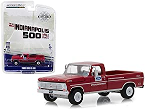 Greenlight 29978 1968 Ford F-100 52nd Annual Indianapolis 500 Mile Race Official Truck 1:64 Scale Hobby Exclusive, Red