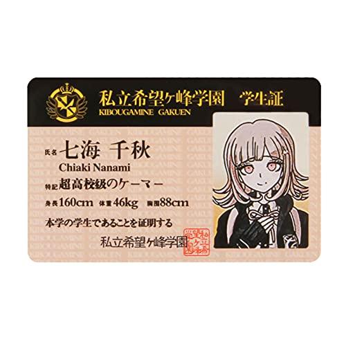ALTcompluser Anime Danganronpa Figur Photocard Hope's Peak Academy School Student Card PVC Lomo Karten zum Sammeln, Geschenk für Fans( Schwarz, Chiaki Nanami)