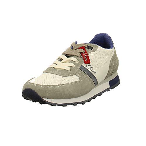 s.Oliver Herren Low-Top Sneaker 13614-22,Männer Halbschuh,Sportschuh,Schnürschuh,atmungsaktiv,White,43 EU