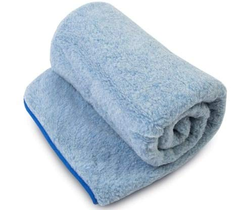 Woolmark ! Merino Schafwolldecke/Kuscheldecke, 100% Merinowolle, Schafwolle Merinowolle Wolle blau Decke 120 x 150 cm