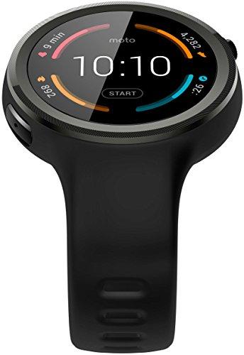 Motorola Moto, orologio 360,grande,della generazione Smartwatch, in pelle di coloremarrone cognac