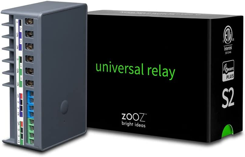 Zooz 700 Series Z-Wave Universal Relay ZEN17 for Awnings, Garage Doors, Sprinklers, and More | 2 NO-C-NC Relays (20A, 10A) | Signal Repeater | Hub Required (Compatible with SmartThings and Hubitat)
