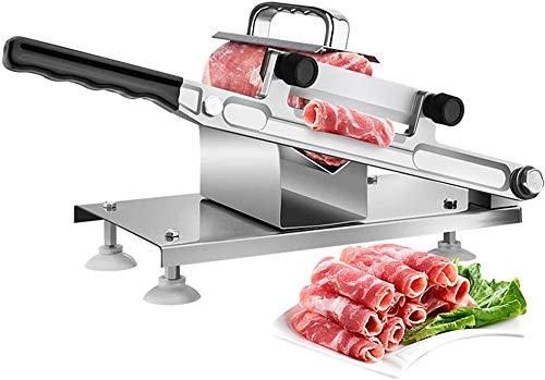 ZKHD Edelstahl Fleischschneider, Manuelle Gefrorene Fleisch Slicer Rinderarmton Rolle Fleisch Food Food Slicer Slicing Machine Für Home Kochen