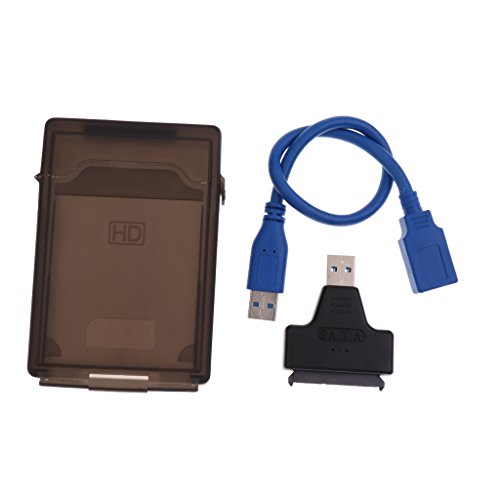 P Prettyia USB 30 zu SATA 3 III HDD Converter Adapter mit Gehause Und USB Kabel fur 25HDD