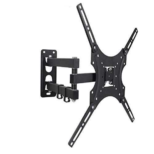 Soporte de Pared para TV TV Pared Soporte Swivels Tilts Se extiende, para televisores de 24-37 pulgadas, capacidad de peso de 15 kg, Max Vesa 400x400mm, Montaje en la pared de TV Ultra Slim Black