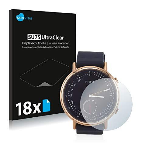Savvies 18x Schutzfolie kompatibel mit Misfit Command Bildschirmschutz-Folie Ultra-transparent