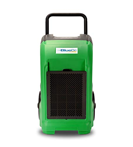 BlueDri BD-76 Water Damage Equipment Industrial Commercial Grade Large Dehumidifier for Home, Basements, Garages, and Job Sites - 76 AHAM/150 Saturation PPD, Pack of 8, Green 5 150 PINT DEHUMIDIFIERS - Ideal for water damage restoration projects of up to 150 pints per day at saturation (90ºF 90%RH)/76 PPD at AHAM (80ºF 60%RH), removing more water per day than normal 70 pint capacity dehumidifiers. CONVENIENT - This dehumidifier is packed with built in automatic water pump, digital panel, compact electrical control with auto restart, hour counter, RH and temperature sensors, drain hose, so you can get any job site done with just a few buttons. COMMERCIAL AND INDUSTRIAL USE - Designed to withstand the rigors of the toughest spaces, the BD-76 can go into construction zones and buildings damaged by flooding and other water accidents and work hard overnight or continuous for days at a time.
