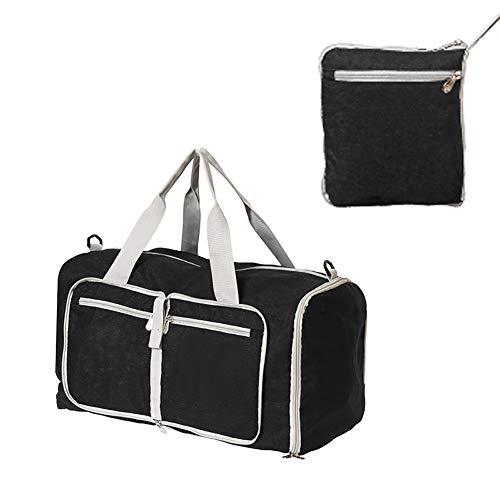 Bolsa de gimnasio plegable, bolsa de viaje deportiva con bolsillo seco húmedo y compartimento para zapatos impermeable para hombres y mujeres