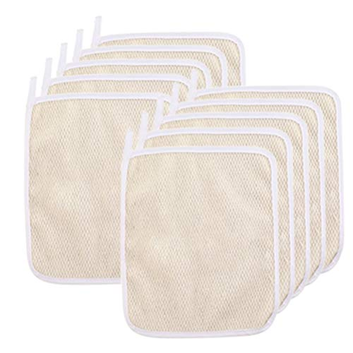 10 PCS Exfoliating Nylon Terry Cloth Soft-Weave Wash Cloths Massage Bath Cloth for Women and Man Skin Care, Beauty Skin Home Massage Bath Cloth,Shower Scrubber, Remove Dead Skin