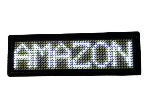 Programmable Scrolling SMD Dot Matrix LED Name Badge (12x48 pixels) White