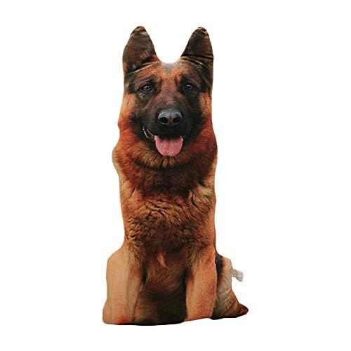 AZXAZ 3D Hundekissen Plüsch Hundeform Kissen Mit abnehmbarem Bezug Simuliertes Sofakissen Kindergeburtstagsgeschenk (Wolf Dog)