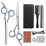 Frcolor Haarschere Set, 9 in 1 Scheren-Sets Haarschneidescheren Friseurscheren mit Professionelle Friseur-Sets für Zuhause Salon Friseur