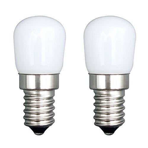 E14 LED Birne/[2 Pack] SFTlite E14 SES LED Pygmy Glühbirne 1.5W 120LM kühlen weißen Edison Schraube LED Lampen [Entspricht 15W Halogenbirne] E14 Birne Für Kühlschrank / Dunstabzugshaube / Nähmaschine