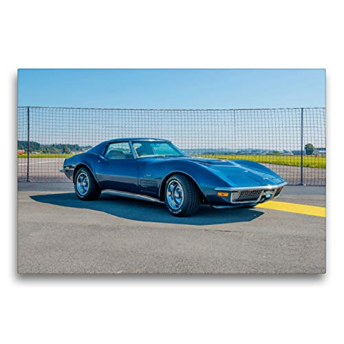 CALVENDO Premium Textil-Leinwand 75 x 50 cm Quer-Format Corvette C3, Leinwanddruck von Alois J. Koller