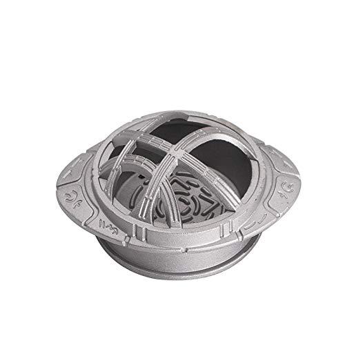 XIAOFANG Black/Silver Cool Modelo Flying Saucer Hookah Bowl & Titular de carbón Grande para Shisha Herrat Management Bunt Cantidad Mejores Accesorios de cachimba (Color : Silver)